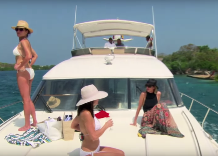 bethenny frankel RHONY Boat Ride from Hell
