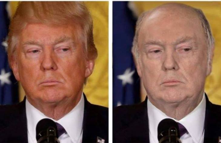 See Donald Trump Without Fake Hair, Fake Tan! Warning: You Can't Unsee It! 2