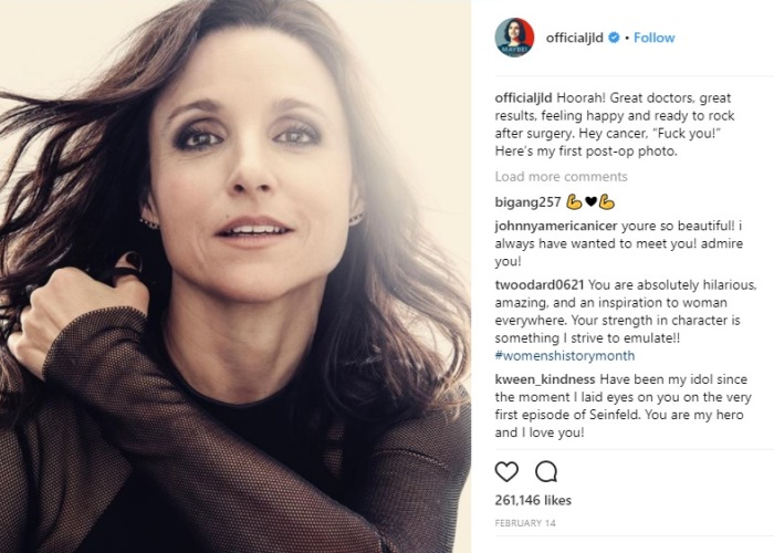 Julia Louis-Dreyfus Makes Plea After Her Ordeal With Breast Cancer 1