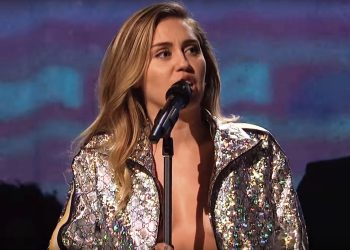 Miley Cyrus Confesses Sins, Fixates on Black in Cleavage Baring Outfit
