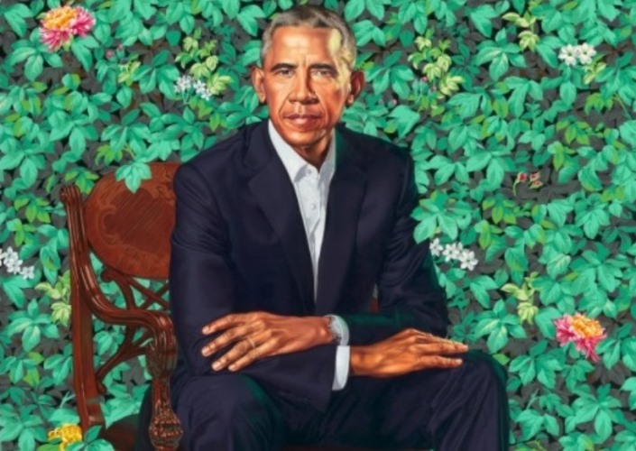 President Obama Portrait Has Marijuana Plants, Right-Wing Social Media Wags Say 5