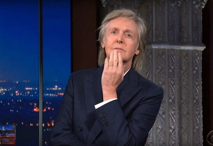 Paul McCartney provides some rare insights on The Beatles on Late Night with Stephen Colbert. (Photo: ScreenCap/YouTube)