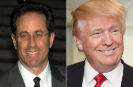 Jerry Seinfield sharply disputes Donald Trump's unsubstantiated birther claims. (NYI Collage)